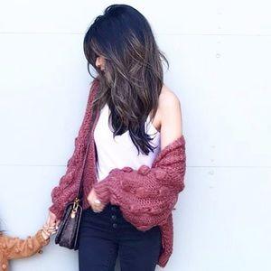 Pom Pom Rust Sweater